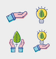 set graphic liner flat icons design vector image vector image