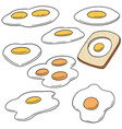 set of fried egg vector image vector image