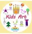 set of KIds Art drawings vector image vector image