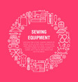 sewing equipment hand made supplies banner vector image vector image