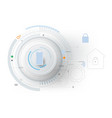 smart home technology controlling protection vector image vector image
