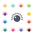 sound control flat icons set vector image