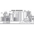 spain benidorm architecture line skyline vector image vector image