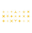 sparkle stars shiny twinkle and bright stars vector image vector image