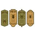 spider juice spider legs halloween bottle label vector image