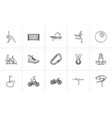 sports hand drawn outline doodle icon set vector image
