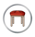 Stool icon in cartoon style isolated on white vector image vector image
