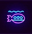 submarine neon sign vector image