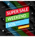 Super Sale poster text on ribbon Sale promotional vector image vector image