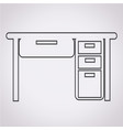 table office icon vector image vector image