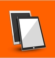 Tablet flat concept vector image vector image