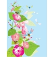 tree with butterflies and dragonflies vector image