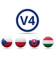 V4 Visegrad group country flag vector image vector image