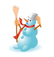 Very cute snowman for Christmas vector image
