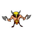 viking cartoon hand drawn image vector image