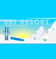 winter web banner design ski resort ski equipment vector image
