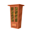 wooden wardrobe isolated icon vector image