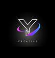 y trendy modern letter logo design monogram and vector image