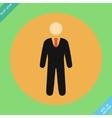 Businessman web icon - vector image