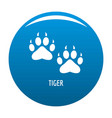 tiger step icon blue vector image