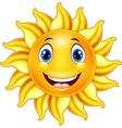 Cute smiling sun cartoon vector image