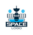 logo of orbiting space station with satellite vector image