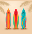 Surf boards with different design vector image