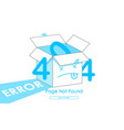 404 box line blue vector image vector image