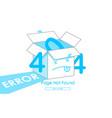 404 box line blue vector image vector image