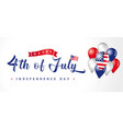 4th july usa vintage lettering vector image vector image