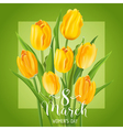 8 March - Womens Day Greeting Card vector image vector image
