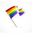 a rainbow flag waving vector image