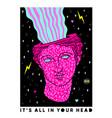 acid ancient sculpture in trendy vector image vector image