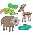 african animals collection 2 vector image