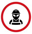 Alien Worker Flat Rounded Icon vector image