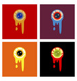 assembly flat icons halloween zombie eyes vector image vector image