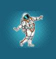 astronaut dancing funny gesture vector image vector image