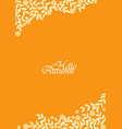 autumn bush leaves and flower frame vector image vector image
