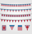 bunting flags decoration symbol american or union vector image