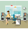 business woman working in office vector image vector image