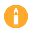 candle christmas flat icon and on vector image vector image