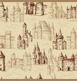 castles pattern medieval historical buildings vector image vector image