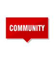 community red tag vector image vector image