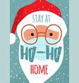cute christmas santa claus face in medical mask vector image