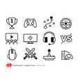 esport competition icons vector image vector image