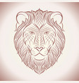 ethnic lion line vector image