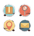 fast delivery set icons travel ilustration vector image