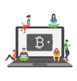 flat modern design concept of cryptocurrency vector image vector image