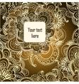 floral decorative background Template frame design vector image vector image