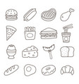 food doodle icon vector image